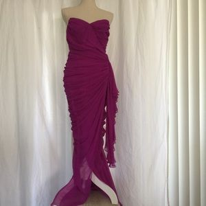 TADASHI 💜 formal sleeveless wedding prom dress